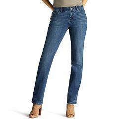 Petite Lee Flex Motion Regular Fit Straight-Leg Jeans