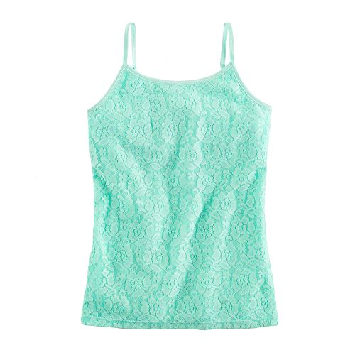 Girls 7-16 SO Strappy Lace Cami