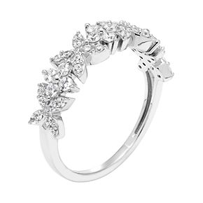 Lovemark 10k White Gold 1/2 Carat T.W. Diamond Butterfly Ring