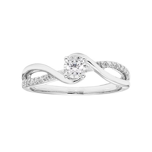 d5b762c02ab7a Lovemark 10k White Gold 1/5 Carat T.W. Diamond Promise Ring