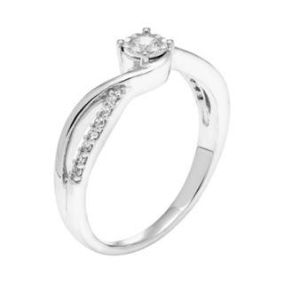 Lovemark 10k White Gold 1/5 Carat T.W. Diamond Promise Ring