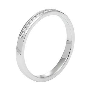 Lovemark 10k White Gold 1/10 Carat T.W. Diamond Anniversary Ring