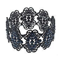 Blue Lace Motif Stretch Bracelet