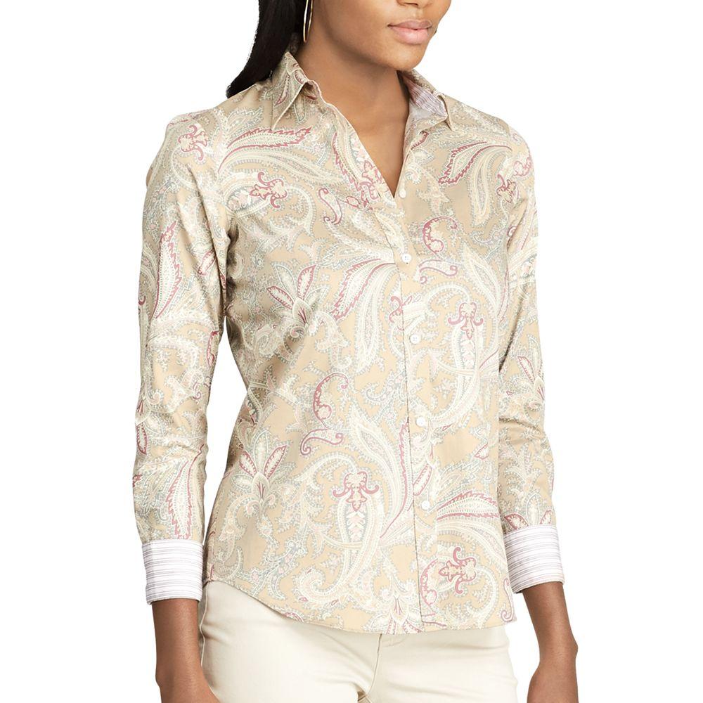 Chaps Non-Iron Printed Button-Down Shirt