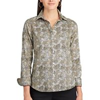 Women's Chaps Non-Iron Printed Button-Down Shirt