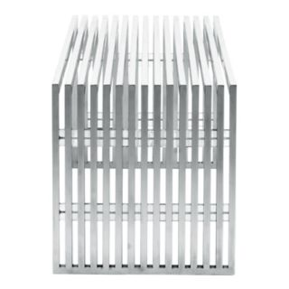 Zuo Modern Novel Stainless Steel Bench