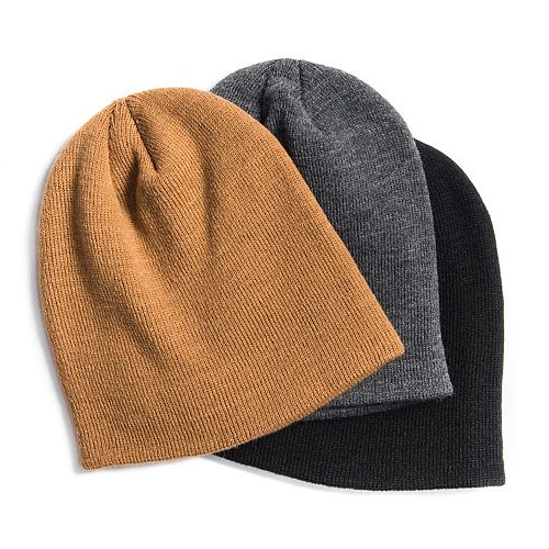 Men's MUK LUKS 3-Pack Solid Beanies