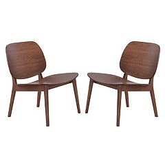 Zuo Modern Lounge Accent Chair 2 pc Set