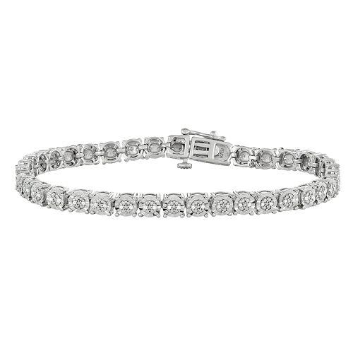 Sterling Silver 1/4 Carat T.W. Diamond Tennis Bracelet