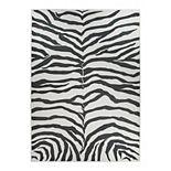Ruggable® Washable Zebra Print 2-piece Indoor Outdoor Rug System - 5' x 7'