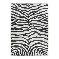 Ruggable® Washable Zebra Print 2-piece Indoor Outdoor Rug System - 5' x 7'