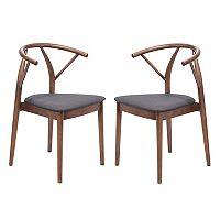 Zuo Modern Mid-Century Dining Chair 2-piece Set
