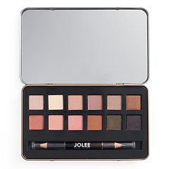 Jolee New York Warm Eyes 12 pc Eyeshadow Palette & Eyeliner Set