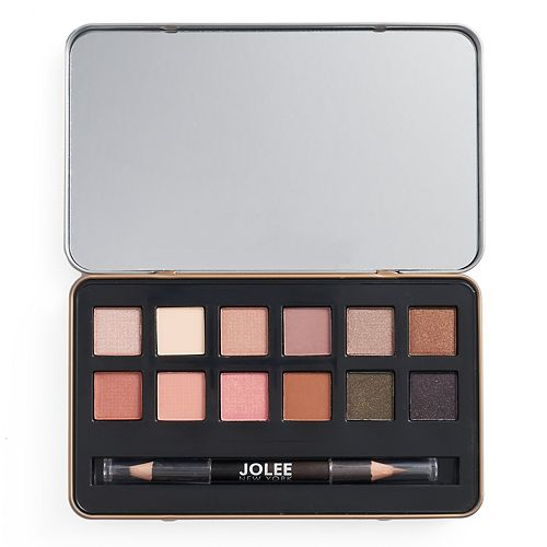 Jolee New York Warm Eyes 12-pc. Eyeshadow Palette & Eyeliner Set