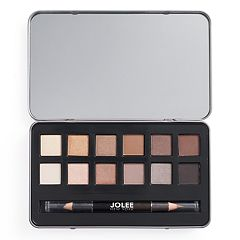 Jolee New York Natural Eyes 12 pc Eyeshadow Palette & Eyeliner Set