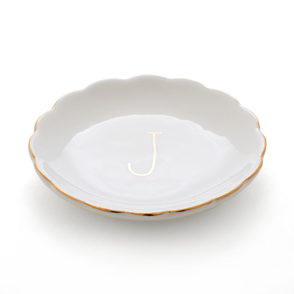 LC Lauren Conrad Monogram Scalloped Trinket Tray