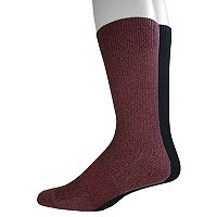 Men's Dockers 2-pack Textured Crew Socks