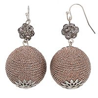 Gray Fireball Crispin Drop Earrings