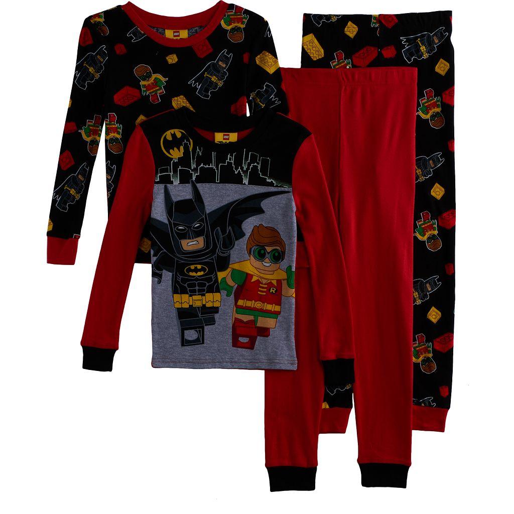 Boys 4-10 LEGO Batman 4-Piece Pajama Set