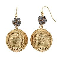 Yellow Fireball Crispin Drop Earrings