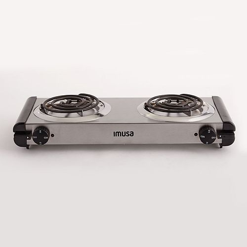 IMUSA Electric Stainless Steel Double Burner