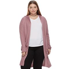 Juniors' Plus Size SO® Hooded Long Cardigan Sweater