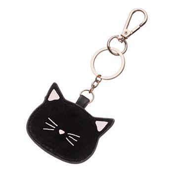 LC Lauren Conrad Velvet Cat Key Chain