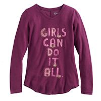 Girls 7-16 & Plus Size Mudd® V-neck Thermal Graphic Tee