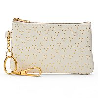LC Lauren Conrad Dotted Key Chain Coin Purse