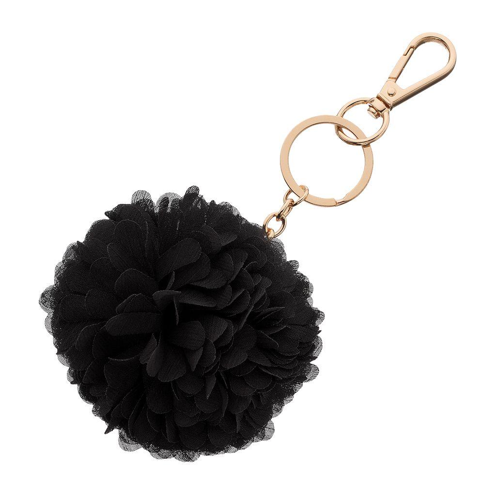 LC Lauren Conrad Chiffon Pom Pom Key Chain