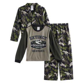 Boys 4-20 Dinosaur 3-Piece Pajama Set