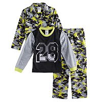 Boys 8-20 Camouflage 3-Piece Pajama Set