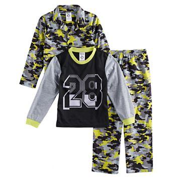 Boys 8-20 Camouflage 3-Piece Pajama Set