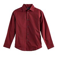 Boys 8-20 Chaps Houndstooth Button-Down Shirt