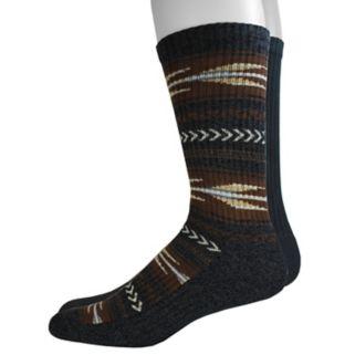 Men's Dockers 2-pack Southwestern and Solid Crew Socks