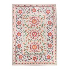 Ruggable® Washable Suzi Framed Floral 2 pc Indoor Outdoor Rug System