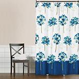 Saturday Knight, Ltd. Floral Blue Medley Shower Curtain