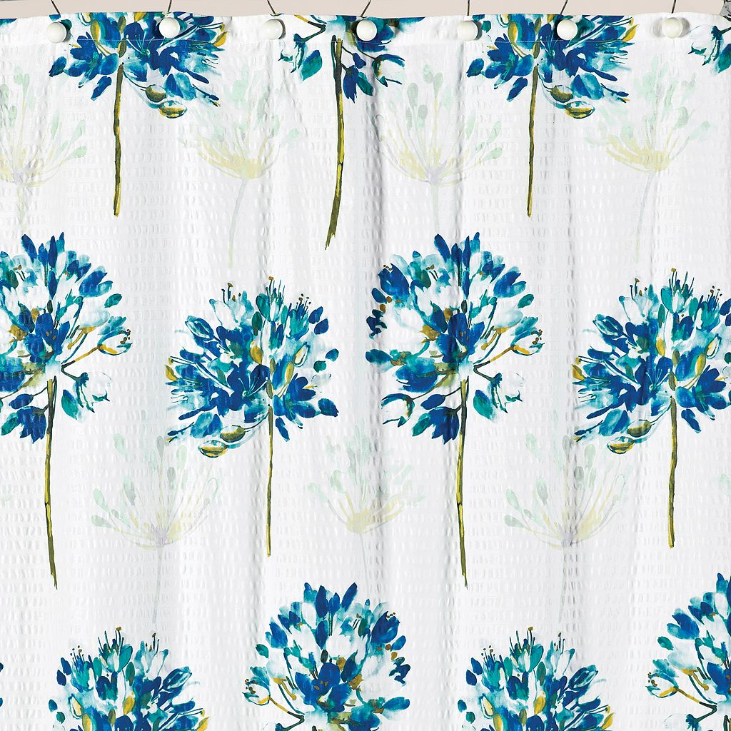 Saturday Knight, Ltd. Floral Blue Medley Shower Curtain