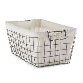 Simple Concepts Rustic Wire Bin