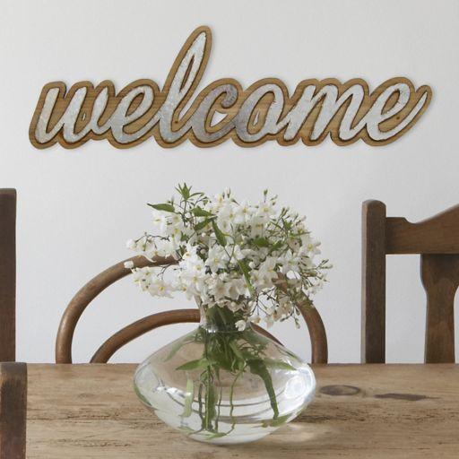 "Stratton Home Decor Farmhouse ""Welcome"" Wall Decor"