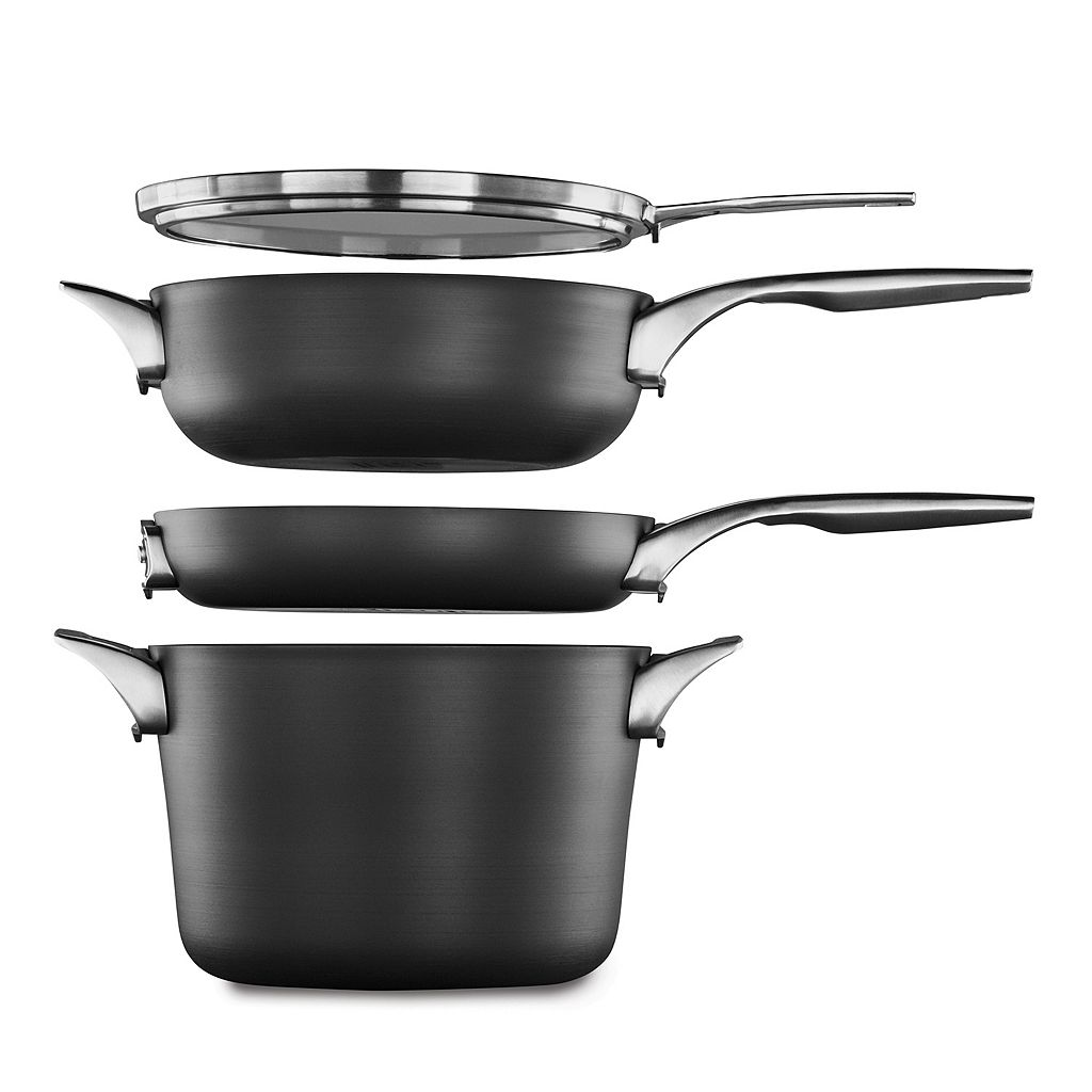 Calphalon Premier Space-Saving Nonstick 4-qt. Covered Chef's Pan