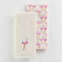 Laura Ashley Flamingo Kitchen Towel 2-pk.