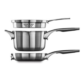 Calphalon Premier Space-Saving 6-pc. Stainless Steel Cookware Set