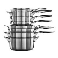 Calphalon Premier Space-Saving 10-pc. Stainless Steel Cookware Set