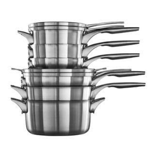 Calphalon Premier Space-Saving 10-pc. Stainless Steel Cookware Set