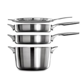 Calphalon Premier Space-Saving 12-in. Stainless Steel Frypan
