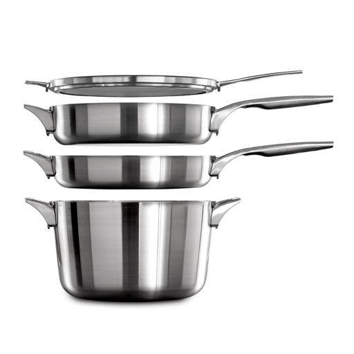 Calphalon Premier Space-Saving 5-qt. Stainless Steel Saute Pan