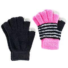 Girls 4-16 2-pk. Chenille Touchscreen Gloves Set