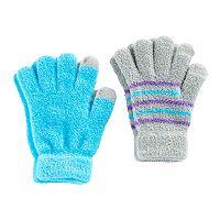 Girls 4-16 2 pkChenille Touchscreen Gloves Set