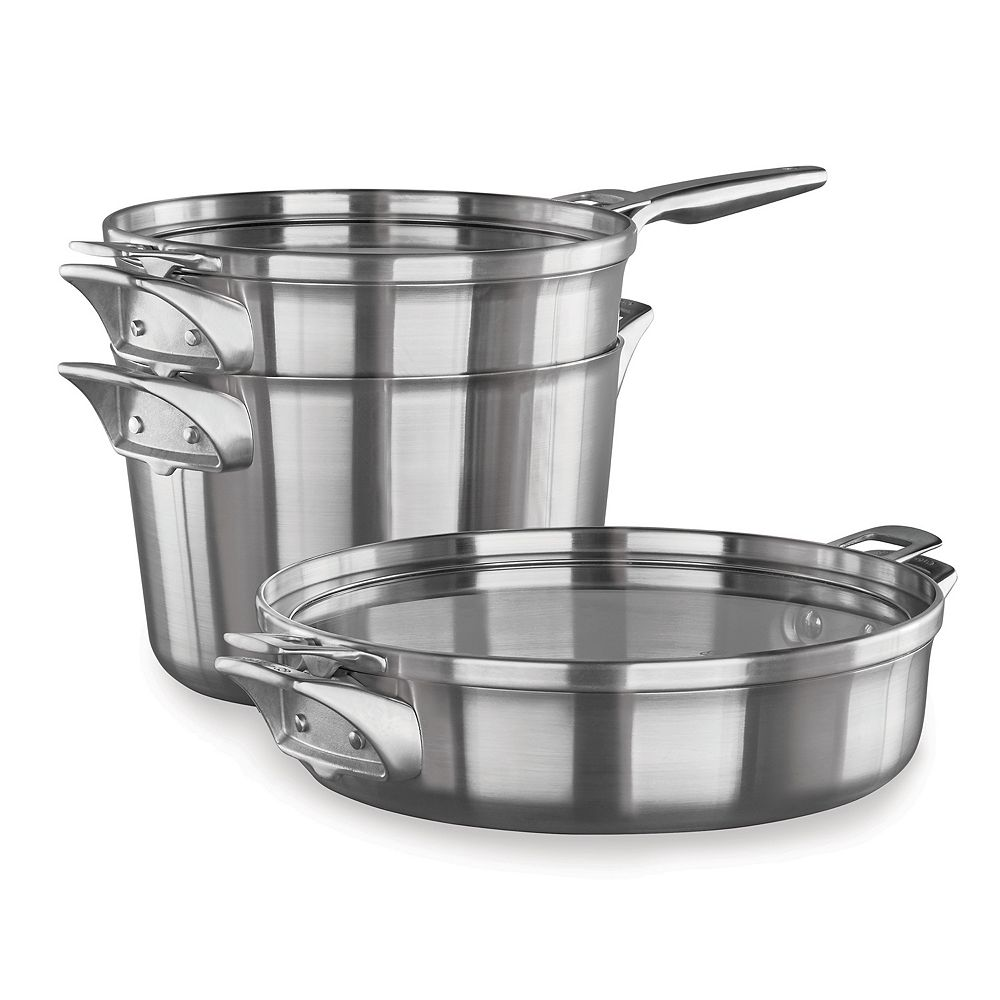 Calphalon Premier Space Saving 5-pc. Stainless Steel Supper Club ...
